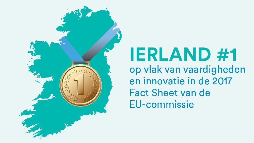 Ierland #1 op vlak van vaardigheden en innovatie in de 2017 Fact Sheet van de EU-commissie